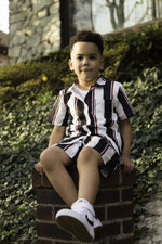 Unisex Toddler Striped Shorts Set
