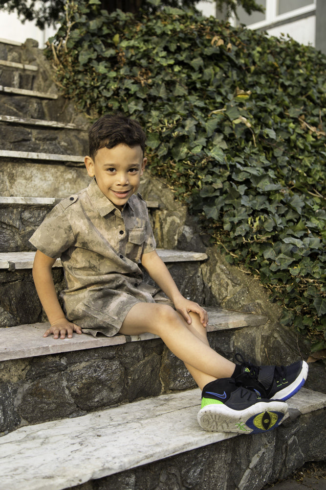 Unisex Toddler Camo Shorts Set