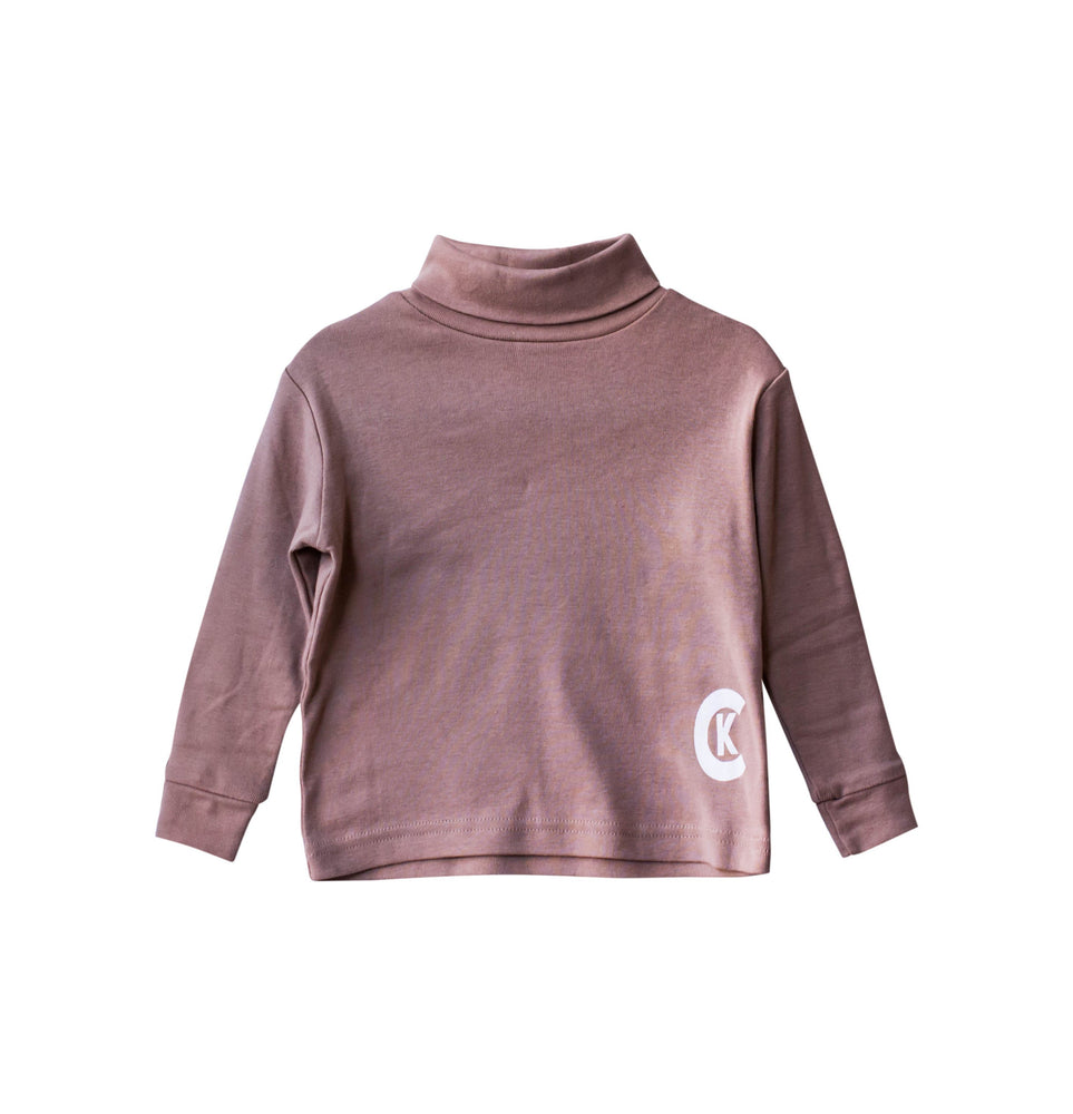 """CK"" BEIGE TURTLENECK"