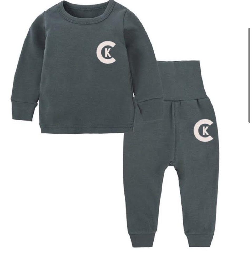 """CK"" SLATE BLUE INFANT SET"