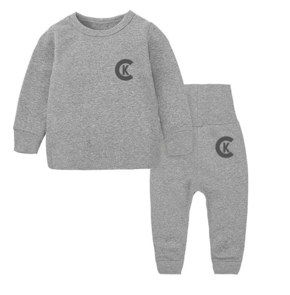 """CK"" GREY INFANT SET"