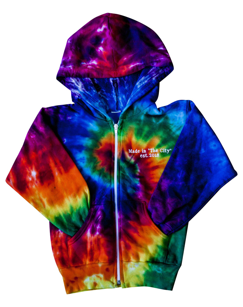 Kidchella Rainbow Swirl Zip Up