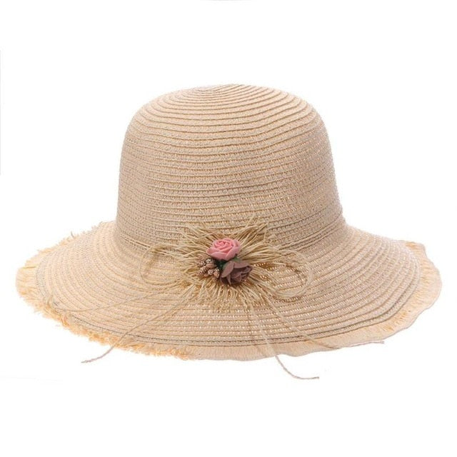 Sun Hat Summer Flowers Beach Resort Sun Hat Sunshade Beach Hat