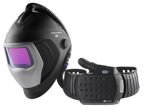 3M Speedglas 9100XXi Air Welding Helmet with Heavy-Duty Adflo PAPR (507726HD)