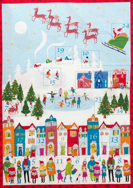 Christmas Advent Panel Fabric from Makower UK