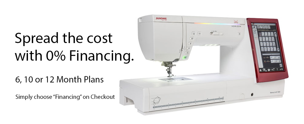 embroidery machine finance