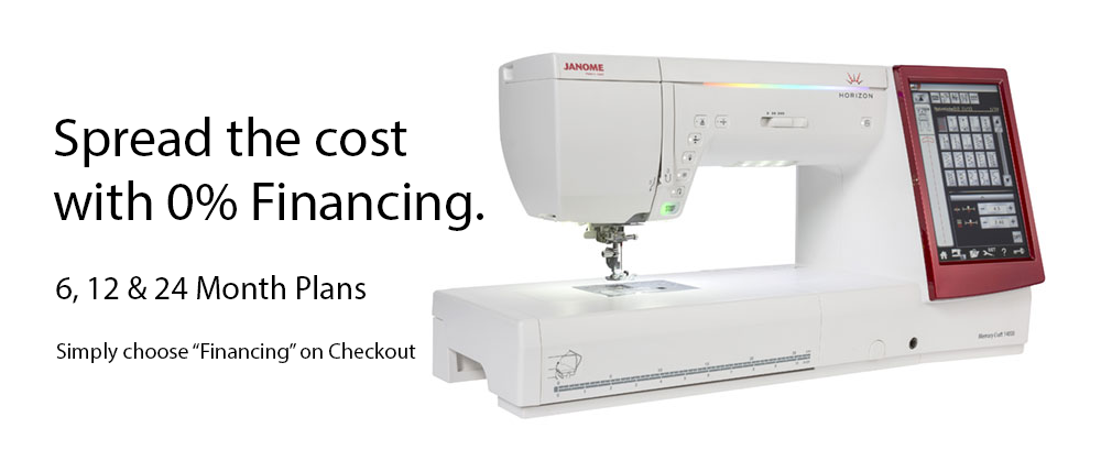 Buy sewing machine with 0% finance