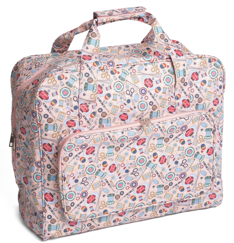 Vintage style sewing machine carry bag