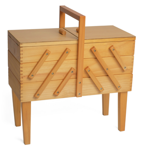Wooden Craft Storage on legs