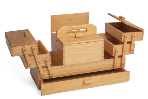 Wooden Storage Box for Sewers and Painters