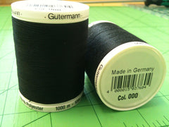 Gutermann Sew All Thread Col.blk 1000m Black