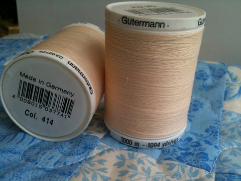 Gutermann Sew All Thread Col.414 1000m Cream