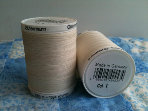 Gutermann Sew All Thread Col.1 1000m Ecru