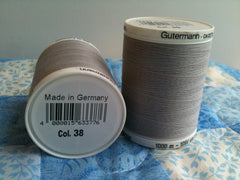 Gutermann Sew All Thread Col.38 1000m Gray