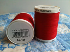 Gutermann Sew All Thread Col.156 1000m Red