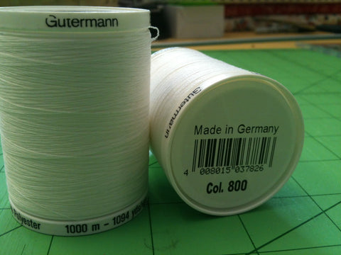 Gutermann Sew All Thread Col.wht 1000m White