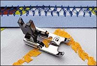 Cat C. Fringe Foot for Janome