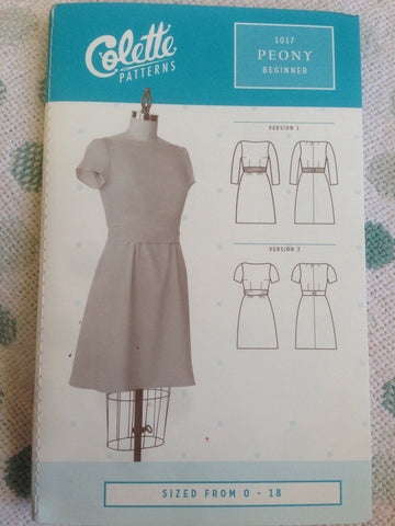 Colette Beginner dress pattern 1017 Peony