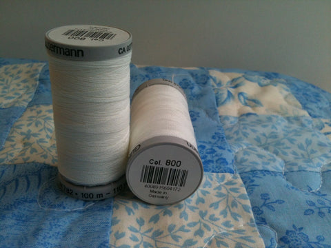 Extra-Upholstery Thread Col.wht 100m White