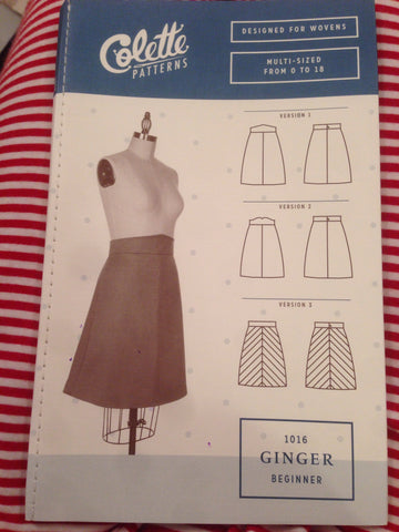 Colette Beginner Sewing Pattern 1016 Ginger