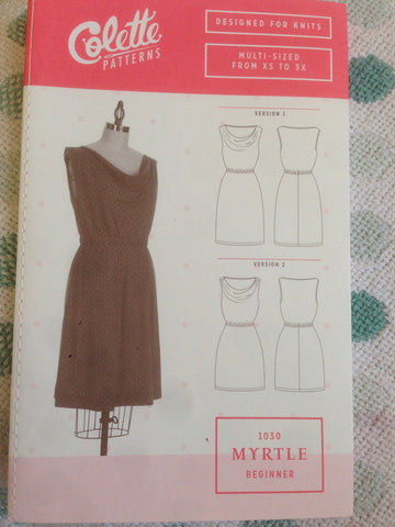 Colette beginner dress pattern 1030 Myrtle