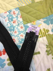 YKK Vislon Two-Way Open End Zip 71cm 28inch: Black (580)