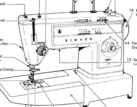 Singer 533 Stylist Instruction Book