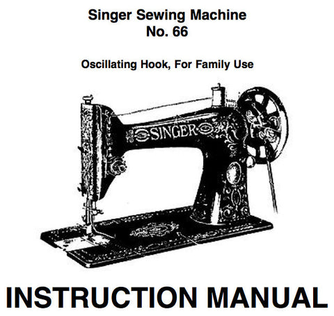 Singer 66k Instruction Book