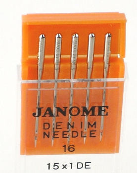 Janome Denim Needles UK Size 16 - Metric Size 1000 (15 x 1DE)