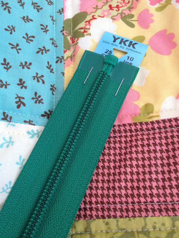 YKK Nylon Open End Zip 25cm 10inch: Emerald (152)