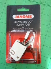 Cat B. Walking foot Open Toe for Janome Memory Craft - Genuine in Janome Packet