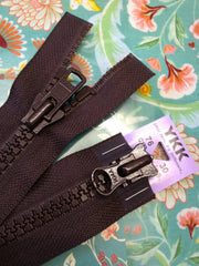 YKK Vislon Two-Way Open End Zip 76cm 30inch: Brown (570)