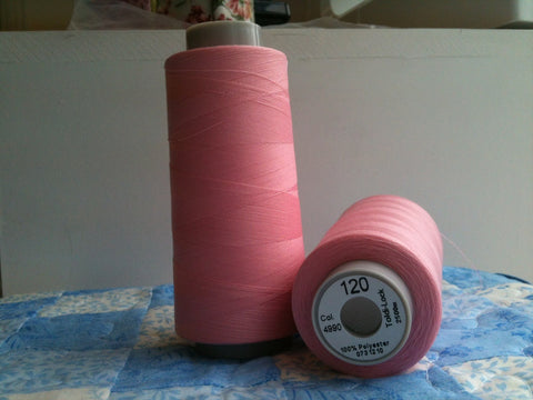 4x Toldi-Lock Overlocking Thread Col.4990 2500m Pink