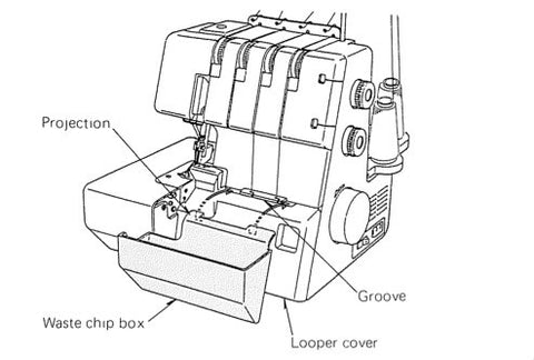Janome 434D Overlocker Instruction Manual