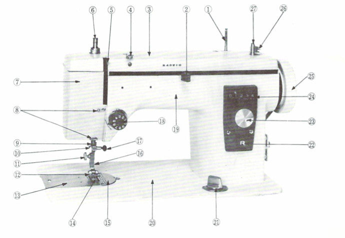 Janome New Home 40 Instruction Manual UK Sewing Machines Fascinating New Home Sewing Machine Threading Instructions