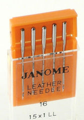 Janome Leather Needles UK Size 16 - Metric Size 100 (15 x 1LL)