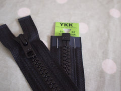 YKK Vislon Open End Zip 81cm 32inch Black (580)