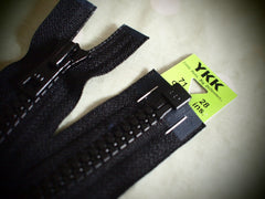 YKK Vislon Open End Zip 71cm 28inch Black (580)