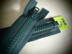 YKK Vislon Open End Zip 71cm 28inch Forest Green (890)