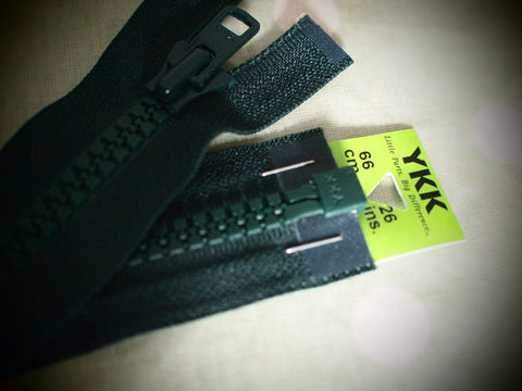 YKK Vislon Open End Zip 66cm 26inch Forest Green 890