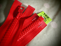 YKK Vislon Open End Zip 66cm 26inch Red (519)