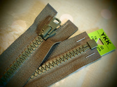 YKK Vislon Open End Zip 76cm 30inch Khaki (566)