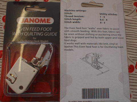 Cat A. Walking foot Closed Toe for Janome
