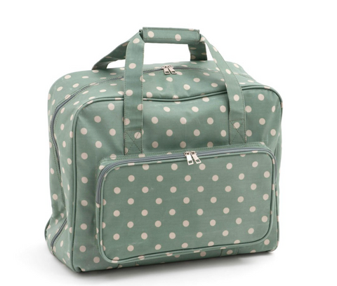 Sewing Machine Bag,carry case Hobby Gift Moss Polka Dot Oil Cloth MR4660/264