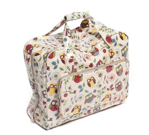 Sewing Machine Bag,carry case Hobby Gift Owl Print Oil Cloth 20 x 43 x 37cm MR4660/29