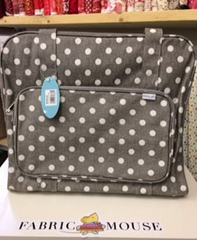 Sewing Machine Bag,carry case Woodland MR4660\268 Light Grey Spots Oil Cloth 20 x 43 x 37cm