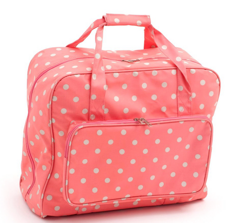 Sewing Machine Bag,carry case Pink Coral Spots Oil Cloth 20 x 43 x 37cm MR4660\262