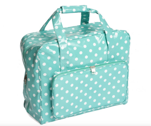 Sewing Machine Bag,carry case MR4660/193 | Duck Egg Spot Cloth 20 x 43 x 37cm