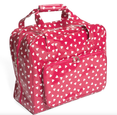 Sewing Machine Bag,carry case MR4660/189 | Raspberry Heart Spot Cloth 20 x 43 x 37cm