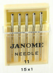 Janome standard sewing machine needles UK Size 11 - Metric Size 75 (15x1)